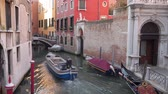 ストリート : Boats and Gondolas in Venice Italy