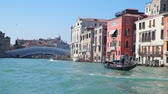 Venice, Italy - March 23, 2018: Bridge and buildings in Venice Italy. Slow motion 120 fps Stock Footage