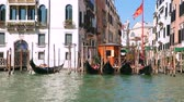 ponte : Buildings and canal in Venice Italy. Slow motion 120 fps