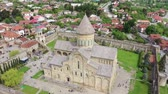 Svetitskhoveli - Patriarchal Cathedral Church of the Georgian Orthodox Church in the city of Mtskheta. Aerial view