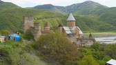 Ananuri - medieval defense fortress on the Georgian Military Highway, Wideo