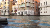 gondoliere : Buildings on the banks of the Grand Canal in Venice. Grand canal in venice