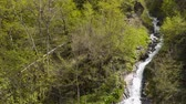 showplace : Mountain stream on the slope of a picturesque mountain. Georgia Stock Footage