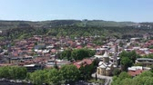 View of the old district of Tbilisi, the capital of Georgia. Aerial view Stock Footage