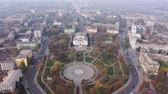 City park in the city center aerial view. Mariupol Ukraine Stock Footage
