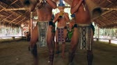 guarani : Native Brazilians doing their ritual at an indigenous tribe in the Amazon