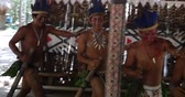 primitivo : Native Brazilians doing their ritual at an indigenous tribe in the Amazon