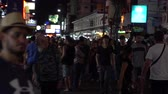 khaosan : BANGKOK, THAILAND - CIRCA MARCH 2017: Crowd at Khao San Road in Bangkok, Thailand