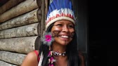 domorodý : Brazilian Native Girl from Tupi Guarani Tribe, Brazil