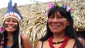 guarani : Native mother and daughter from Tupi Guarani Tribe, Brazil