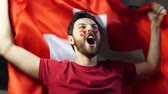kiabálás : Switzerland fan cheering Stock mozgókép