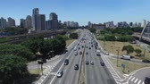 brazylia : Aerial View of Radial Leste Avenue, in Sao Paulo, Brazil