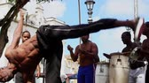 chutando : Capoeira martial art performance