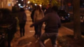 выиграть : 1620 Happy and Excited Man Waling Down the Street .mov