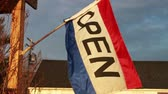 duyurmak : 0828 Open Flag at Sunset, Slow Motion 2.mov Stok Video