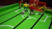 game field : Table football, childrens board game Stock Footage