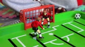 labdarúgó : Table football, childrens board game Stock mozgókép