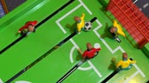 football player : Table football, childrens board game Stock Footage