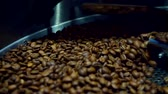 coffee beans on plant : Cooling coffee beans after roasting. Roasting machine, close-up