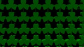 celta : Zooming out on shamrock background animation