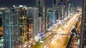 evening : time lapse on high light street in dubai Stock Footage