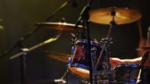 Rock concert batteur plaing images