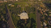 точка зрения : July 2016: Aerial view of the LDS Mormon Temple in Provo Utah
