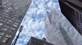 pracoviště : Looking up at Times Square skyscrapers in New York City
