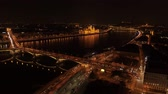 Aerial View Budapest Night