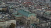 compositor : Drone Aerial Vienna State Opera and Cityscape