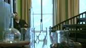 examiner : Teacher of chemistry Stock Footage