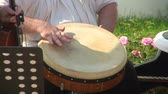 djembe : hand-drum Stock Footage