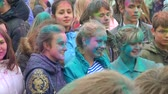 holi : Festival of Indian paints, colored peoples faces