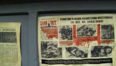 caricatura : Newspaper ads and in the besieged Leningrad2.7K, 2704x1536 Stock Footage