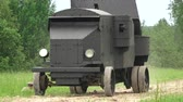 caqui : Armored car in the field. The first world war. Shot in 4K (ultra-high definition (UHD)), so you can easily crop, rotate and zoom, without losing quality!  Real time.