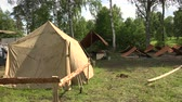 ocultação : Military tent camp. The first world war. 1914-1918. Shot in 4K (ultra-high definition (UHD)), so you can easily crop, rotate and zoom, without losing quality!  Real time. Vídeos