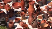 kitchen : Ceramic and clay pots. Shot in 4K (ultra-high definition (UHD)), so you can easily crop, rotate and zoom, without losing quality!  Real time.