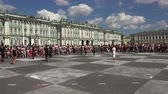 bishop : Live chess. The Palace square. Saint-Petersburg. Shot in 4K (ultra-high definition (UHD)), so you can easily crop, rotate and zoom, without losing quality!  Real time. Stock Footage
