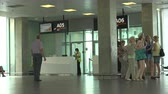 interior : The waiting room at the airport Pulkovo. St. Petersburg. Shot in 4K (ultra-high definition (UHD)), so you can easily crop, rotate and zoom, without losing quality!  Real time. Stock Footage