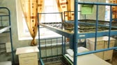 interior : The prison bunks Stock Footage