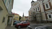 tinted : The church, temple in the Old Tallinn. Estonia. Stock Footage