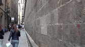 bishop : Gothic Quarter of Barcelona. Spain. Stock Footage