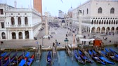 Drone footage of Venice city centrum Stok Video