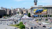 independence : KIEV, UKRAINE - MAY 18: Opposition meeting during Europe Day celebration in Kiev, Ukraine on May 18, 2013.