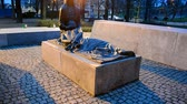 projetor : Katyn massacre memorial in Wroclaw aka Breslau, Poland on January 03, 2015. During Katyn Forest massacre in April-May 1940 about 22,000 people was killed by Soviet secret police NKVD.