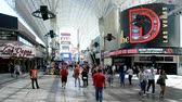 fremont : LAS VEGAS, NV - APR 18: Fremont Street in Downtown on April 18, 2016 in LV, Nevada, USA. It was the area received the citys 1st traffic light in 1931.