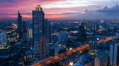 nuit : City sunset Skyline - Bangkok laps de temps