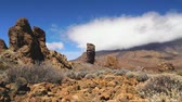 kanárské ostrovy : Mountain landscape, Teide volcano view, Canary islands, Spain Time-lapse