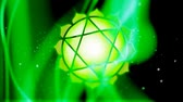 chakra : The Heart Chakra Anahata Mandala Spins in Energy Field Stock Footage