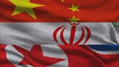supremo : China Iran And North Korea Waving Flags
